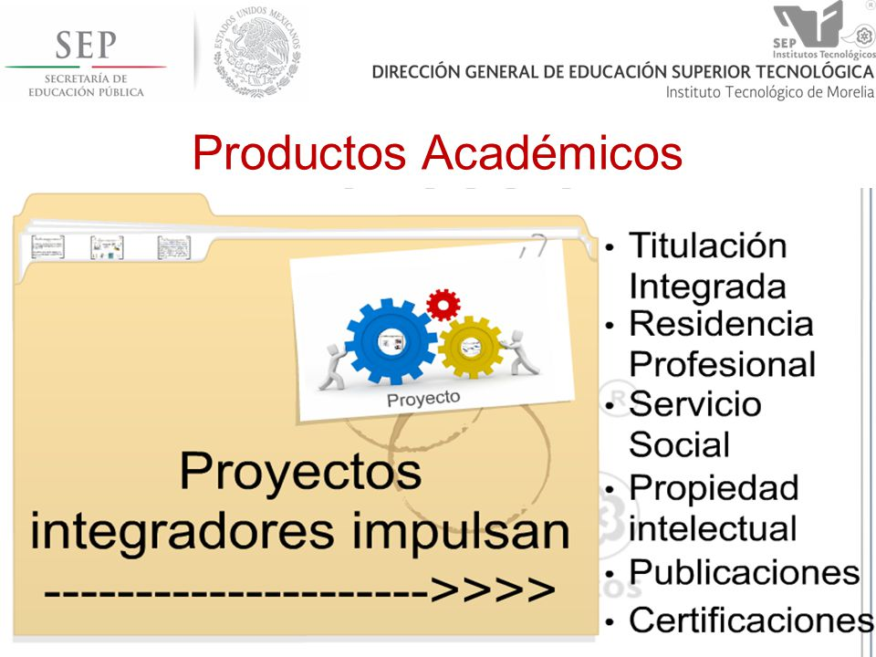 Productos Académicos