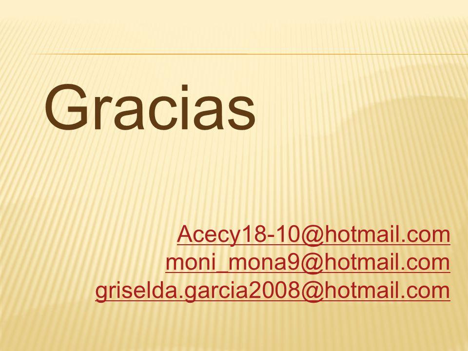 Gracias Acecy18-10@hotmail.com moni_mona9@hotmail.com griselda.garcia2008@hotmail.com