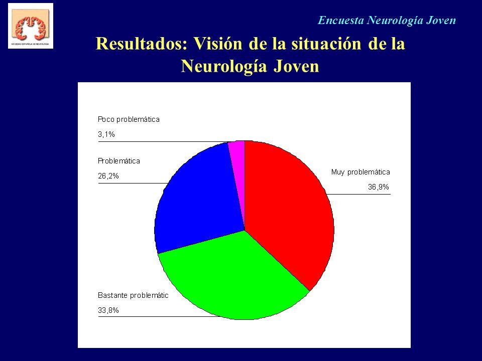 Resultados: Visión de la situación de la Neurología Joven