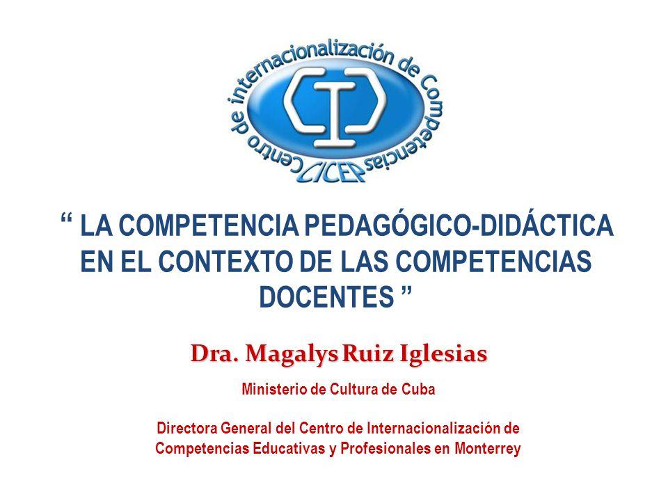 Dra. Magalys Ruiz Iglesias Ministerio de Cultura de Cuba