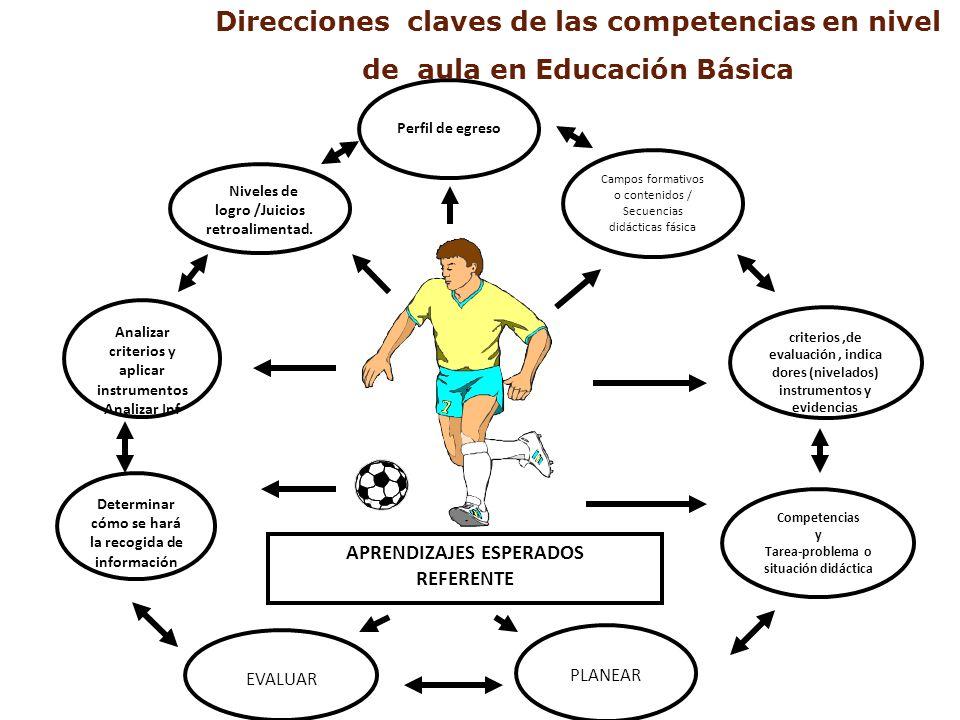 Direcciones claves de las competencias en nivel