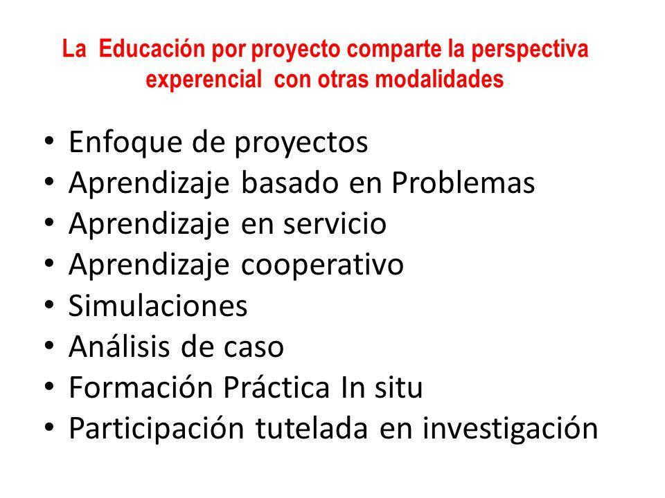 Aprendizaje basado en Problemas Aprendizaje en servicio