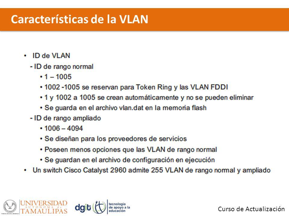Características de la VLAN