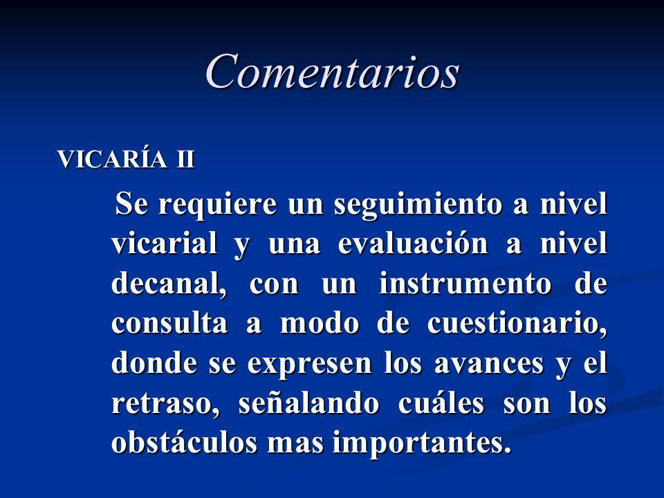 Comentarios VICARÍA II.