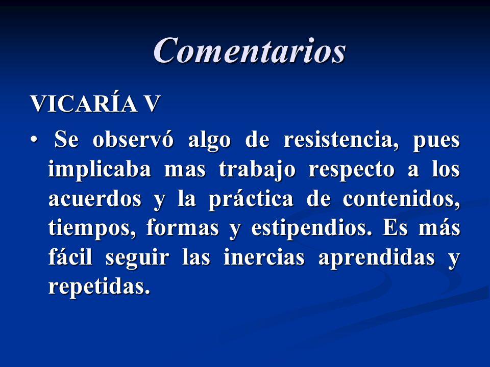 Comentarios VICARÍA V.