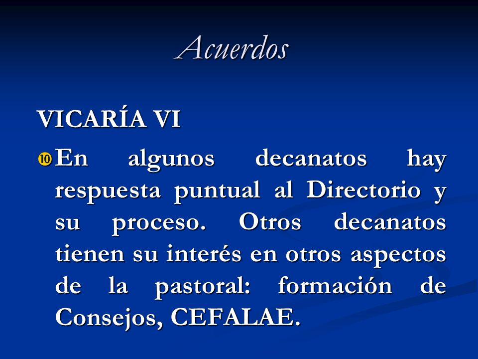 Acuerdos VICARÍA VI.