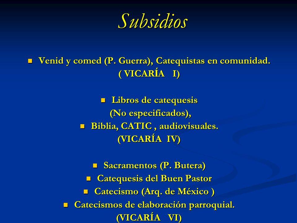 Subsidios Venid y comed (P. Guerra), Catequistas en comunidad.