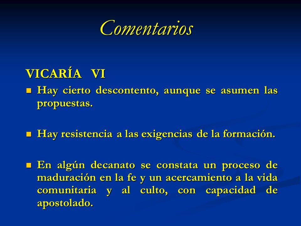 Comentarios VICARÍA VI