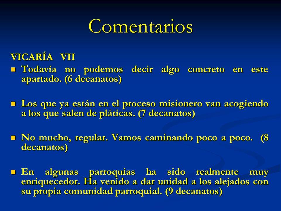 Comentarios VICARÍA VII