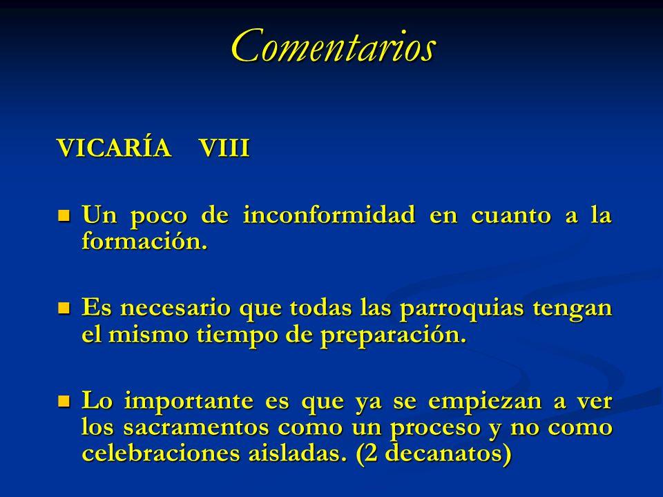 Comentarios VICARÍA VIII
