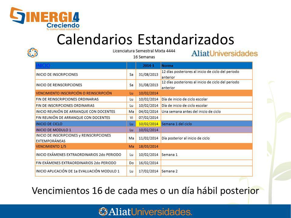 Calendarios Estandarizados