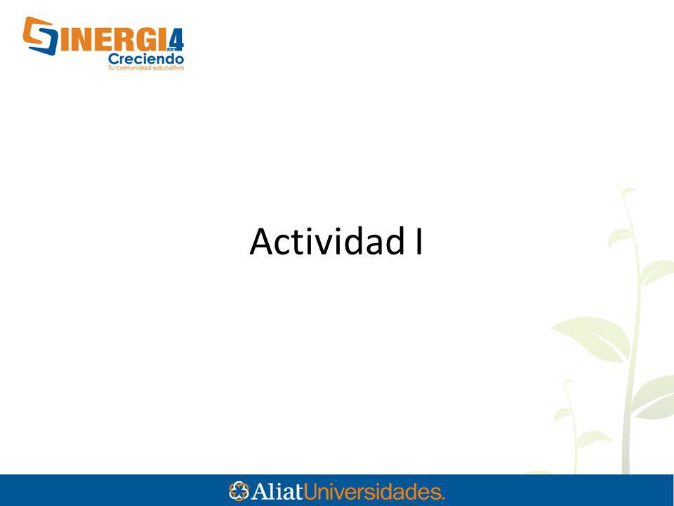 Actividad I