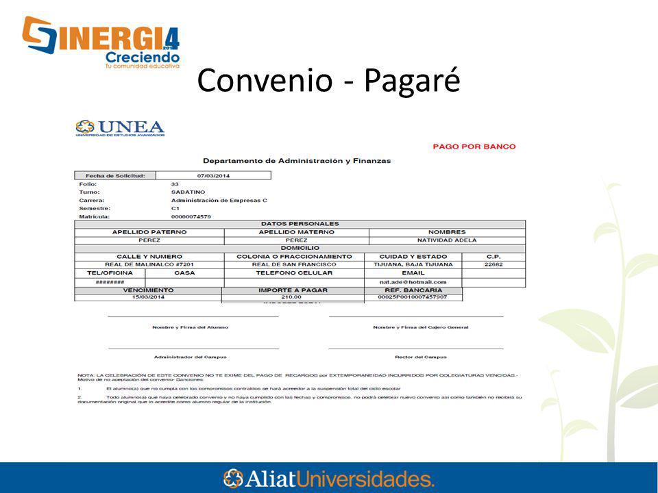Convenio - Pagaré
