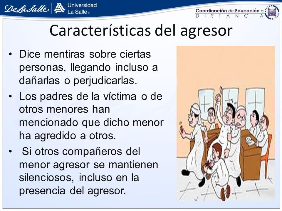 Características del agresor