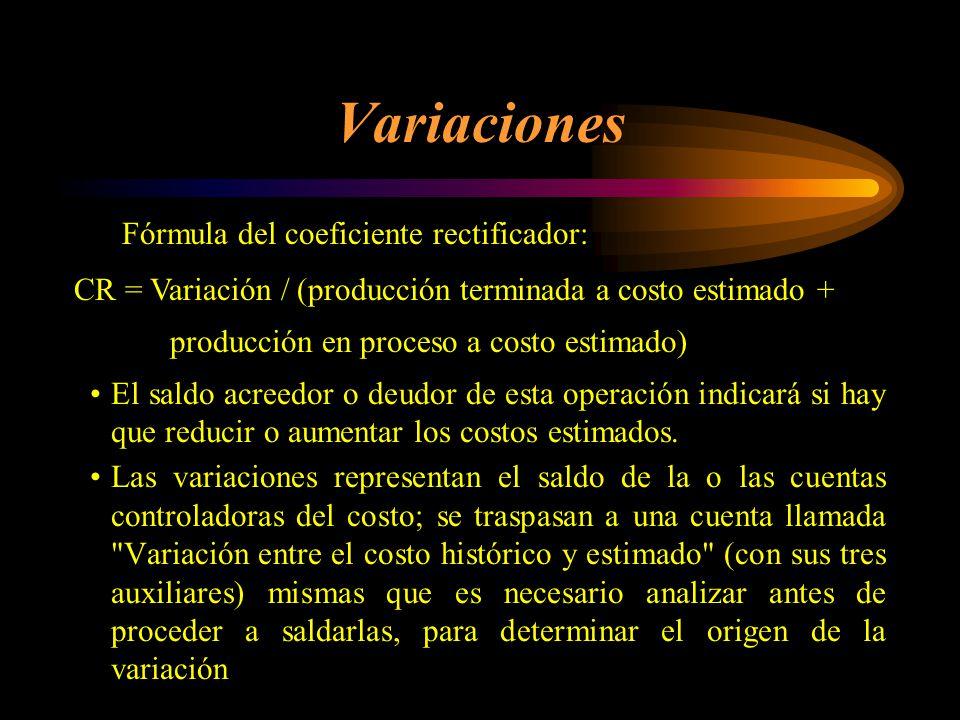 Variaciones Fórmula del coeficiente rectificador: