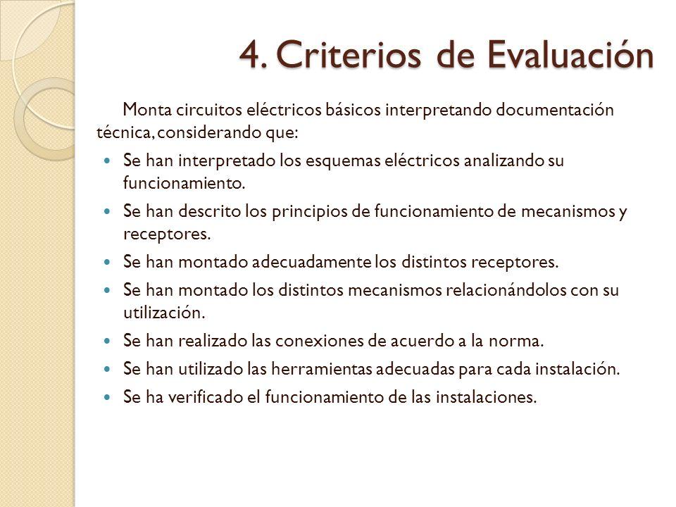 4. Criterios de Evaluación