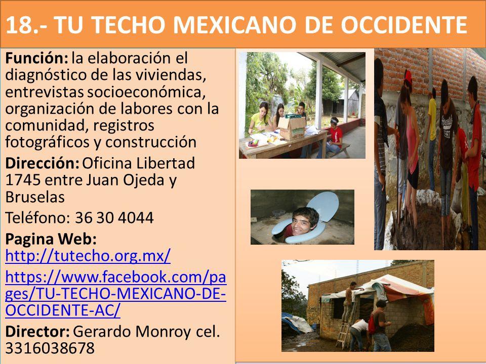 18.- TU TECHO MEXICANO DE OCCIDENTE