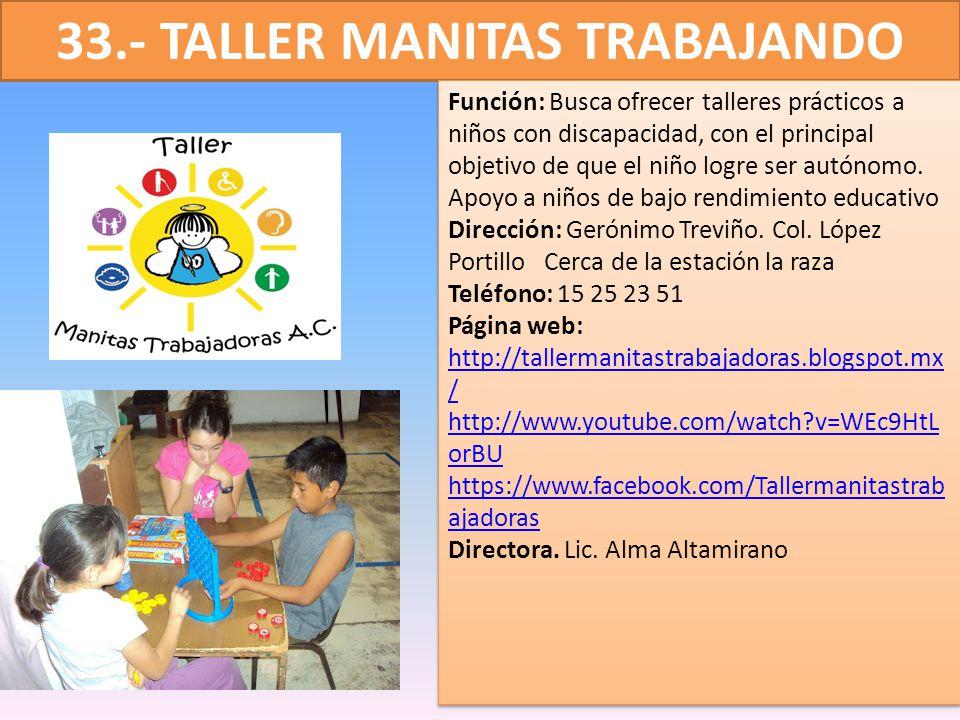33.- TALLER MANITAS TRABAJANDO