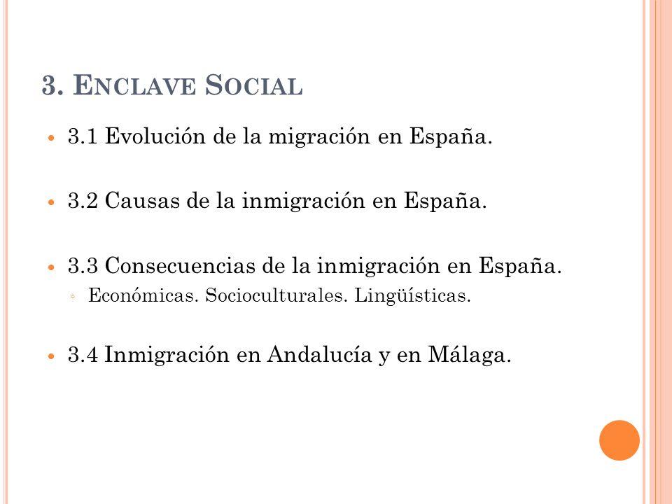 3. Enclave Social 3.1 Evolución de la migración en España.
