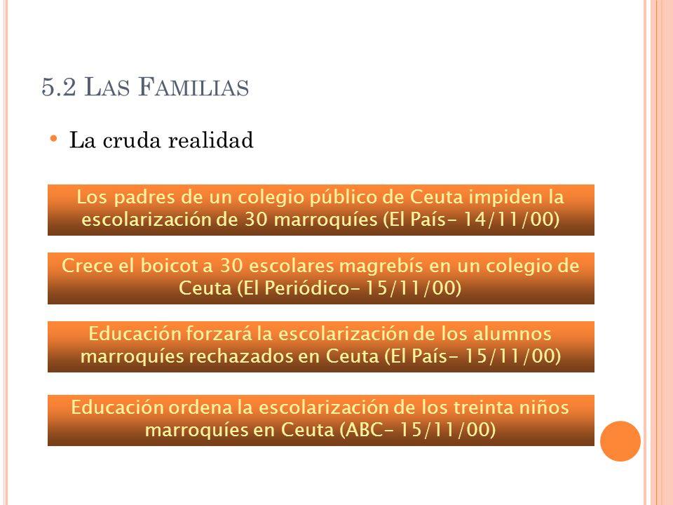 5.2 Las Familias La cruda realidad