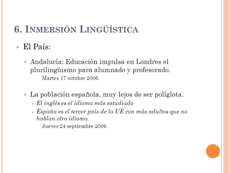 6. Inmersión Lingüística
