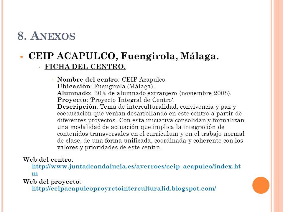8. Anexos CEIP ACAPULCO, Fuengirola, Málaga. FICHA DEL CENTRO.