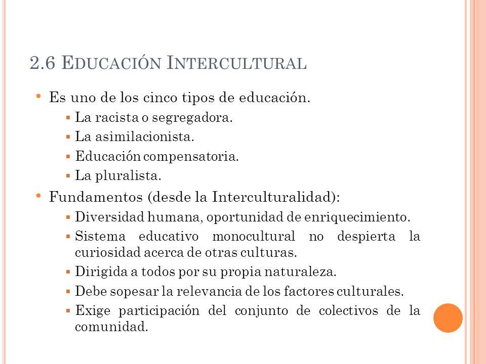 2.6 Educación Intercultural