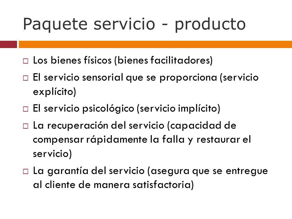 Paquete servicio - producto