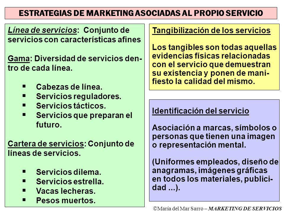 ESTRATEGIAS DE MARKETING ASOCIADAS AL PROPIO SERVICIO