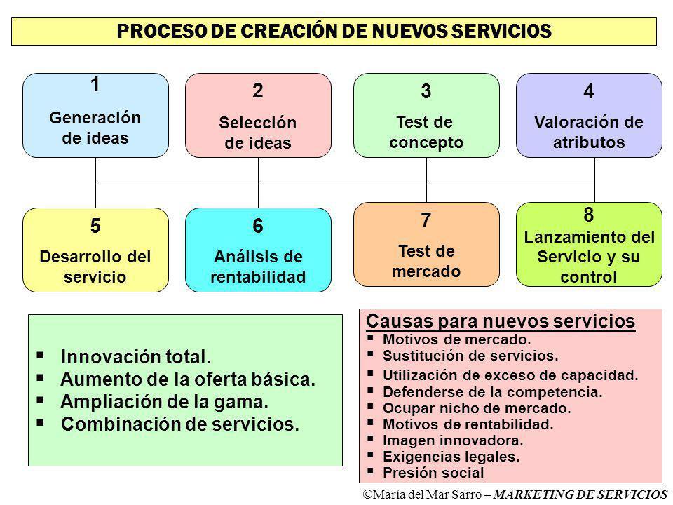 PROCESO DE CREACIÓN DE NUEVOS SERVICIOS