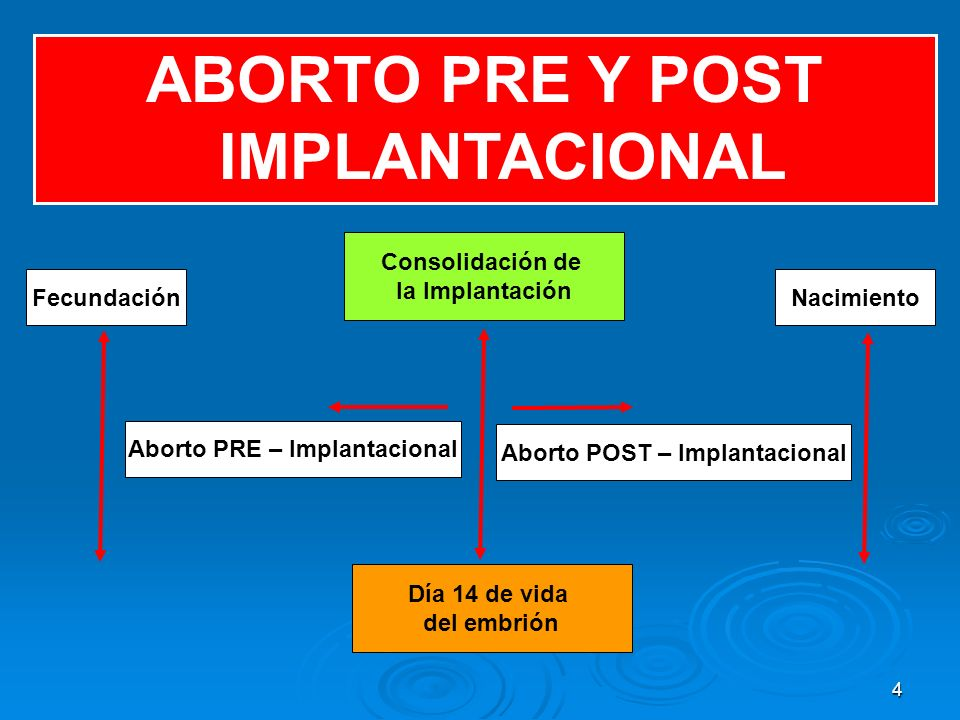 ABORTO PRE Y POST IMPLANTACIONAL