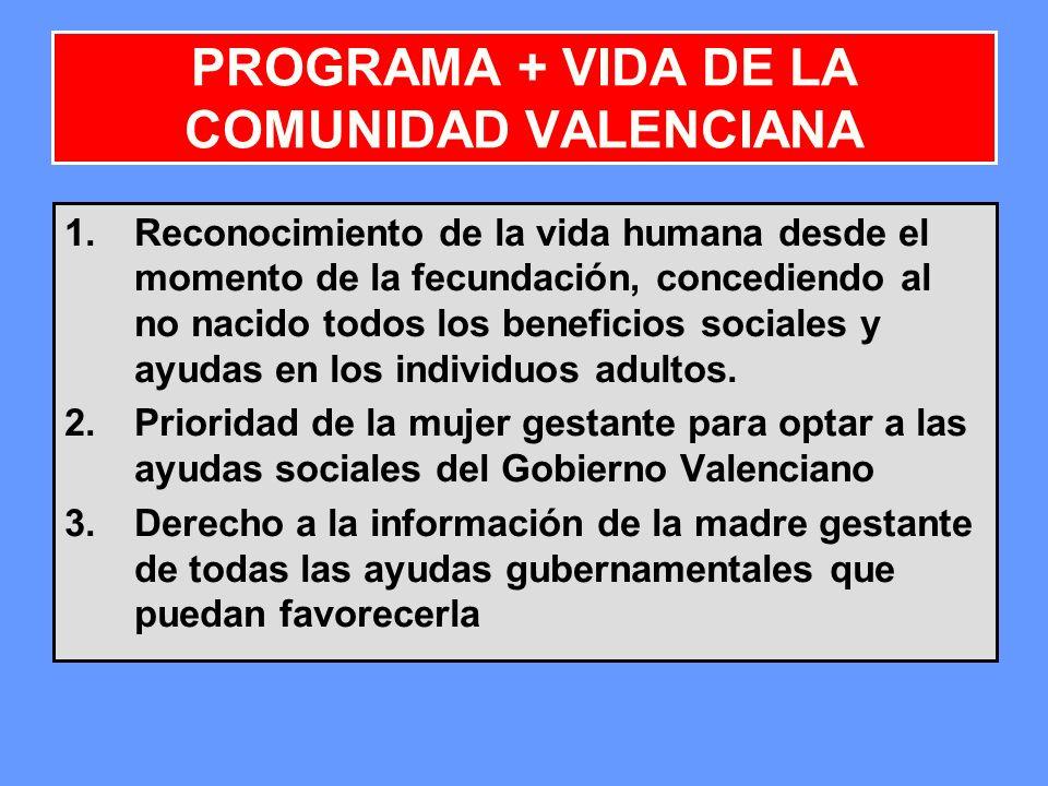 PROGRAMA + VIDA DE LA COMUNIDAD VALENCIANA