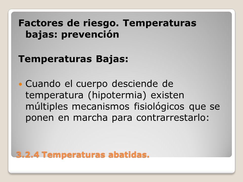 3.2.4 Temperaturas abatidas.