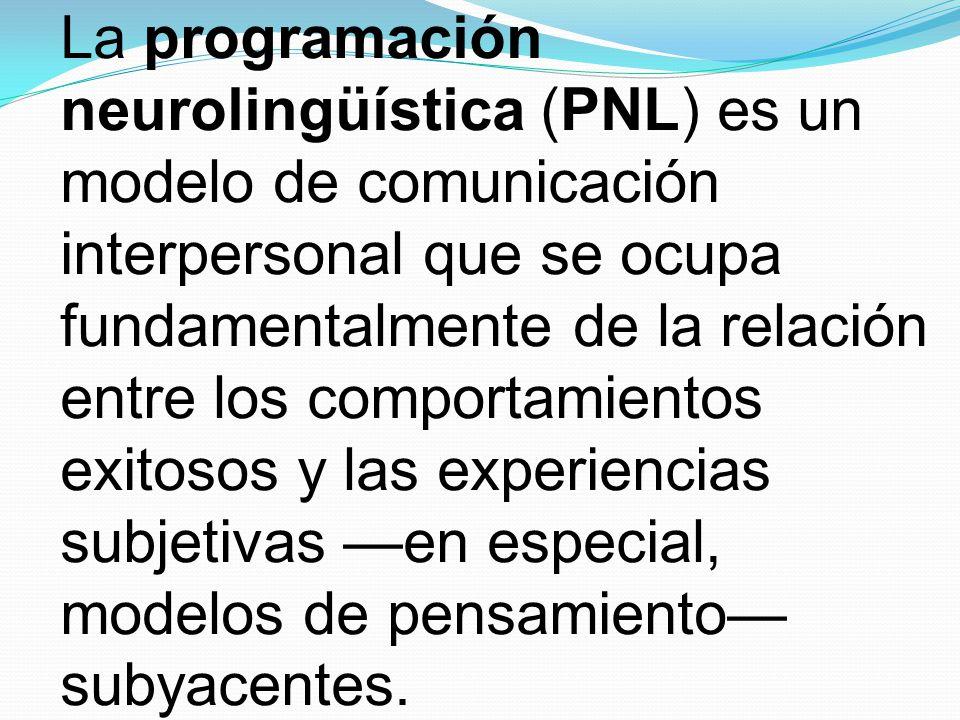 La programación neurolingüística (PNL) es un modelo de comunicación interpersonal que se ocupa fundamentalmente de la relación entre los comportamientos exitosos y las experiencias subjetivas —en especial, modelos de pensamiento— subyacentes.