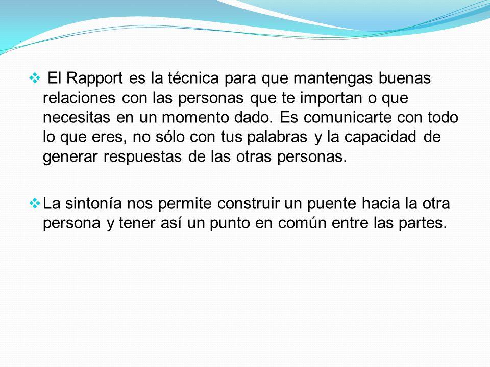 Sintonía O Rapport .