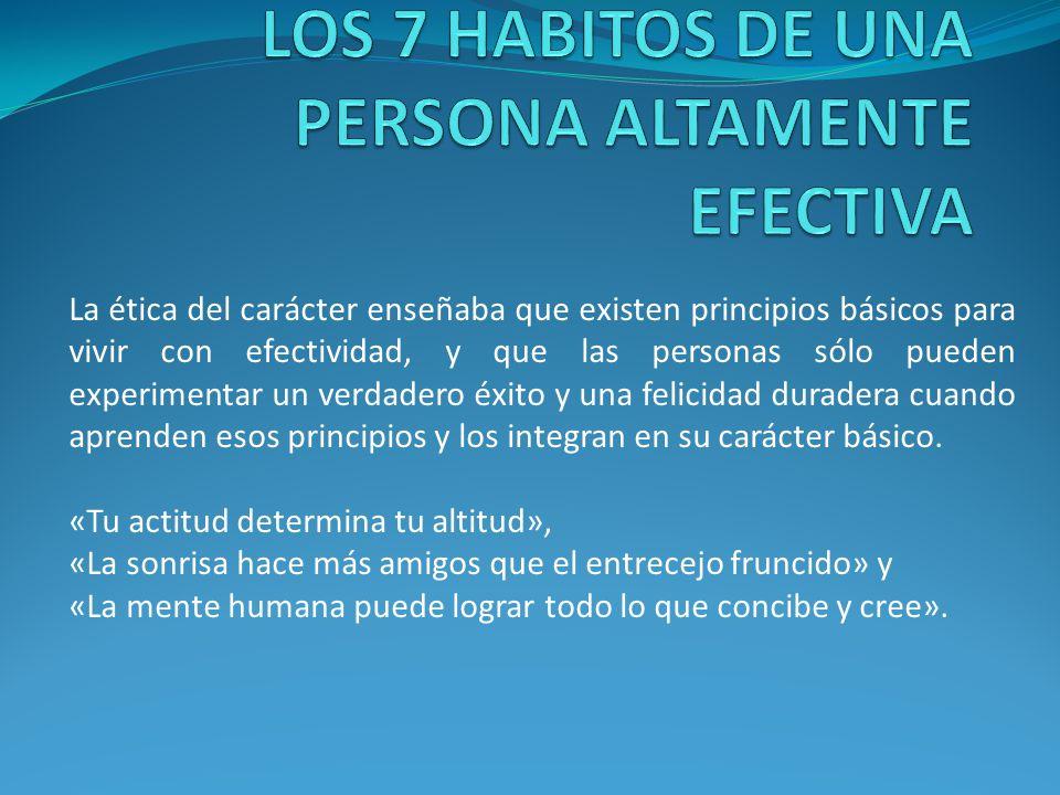 LOS 7 HABITOS DE UNA PERSONA ALTAMENTE EFECTIVA