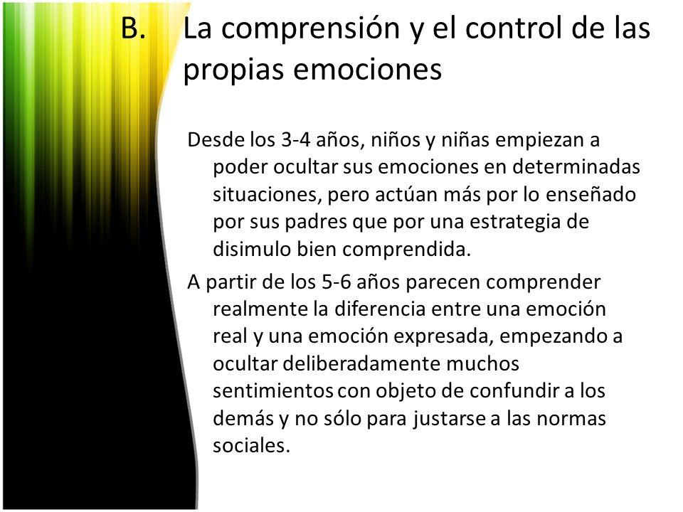 La comprensión y el control de las propias emociones