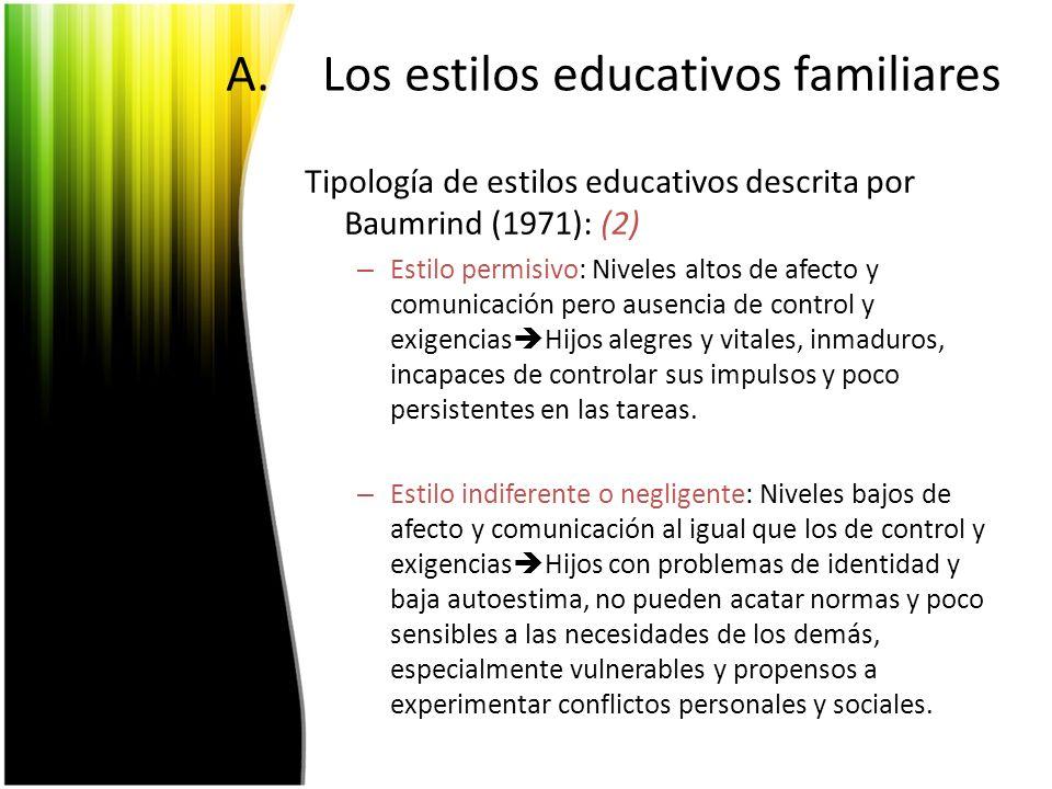 Los estilos educativos familiares