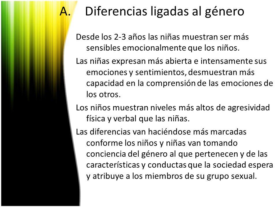 Diferencias ligadas al género