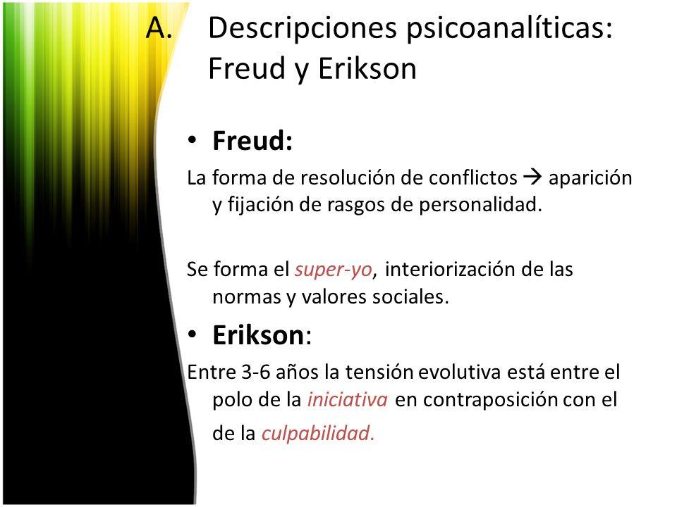 Descripciones psicoanalíticas: Freud y Erikson