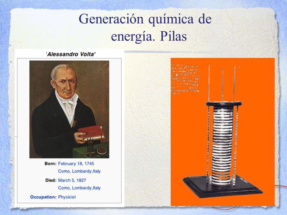 Generación química de energía. Pilas