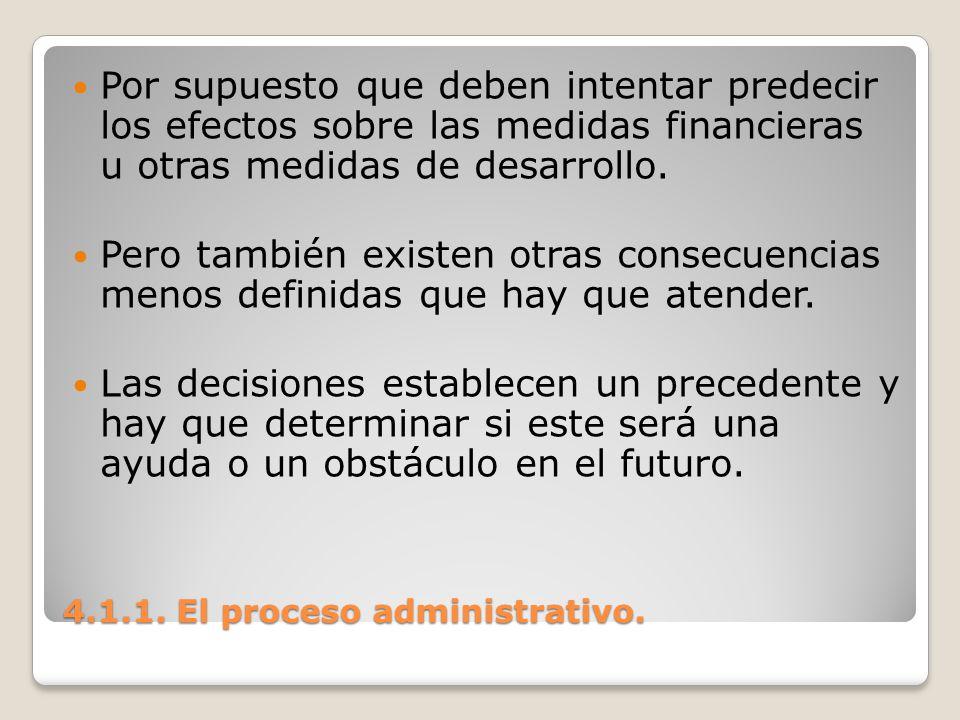4.1.1. El proceso administrativo.