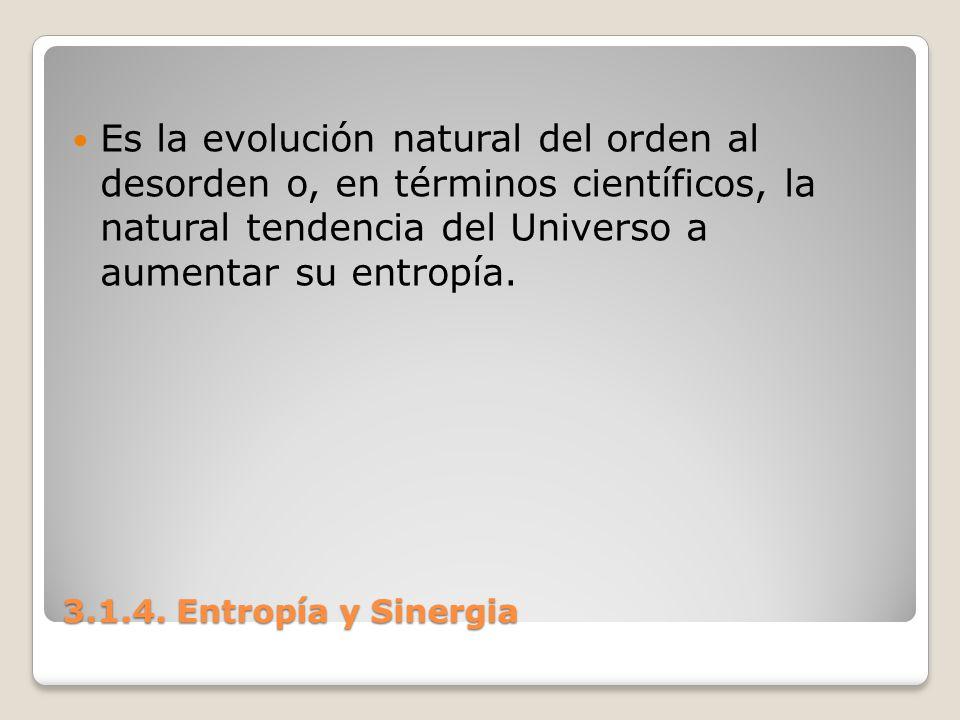 Es la evolución natural del orden al desorden o, en términos científicos, la natural tendencia del Universo a aumentar su entropía.