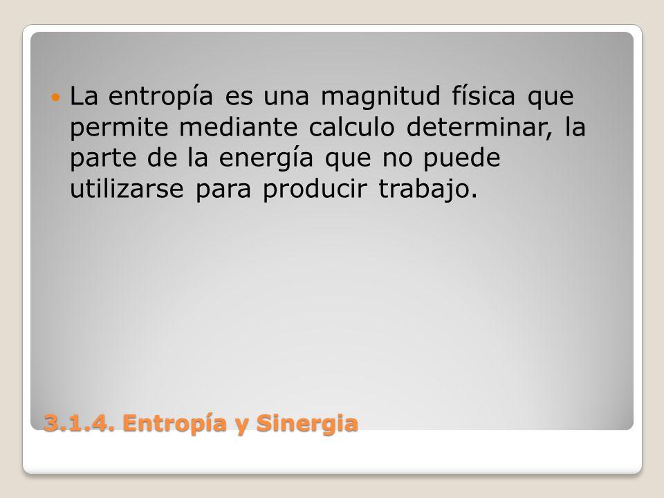 La entropía es una magnitud física que permite mediante calculo determinar, la parte de la energía que no puede utilizarse para producir trabajo.