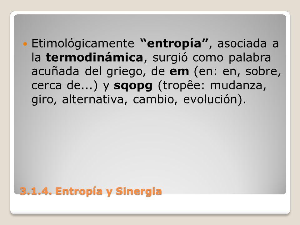 Etimológicamente entropía , asociada a la termodinámica, surgió como palabra acuñada del griego, de em (en: en, sobre, cerca de...) y sqopg (tropêe: mudanza, giro, alternativa, cambio, evolución).
