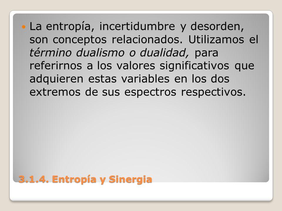 La entropía, incertidumbre y desorden, son conceptos relacionados