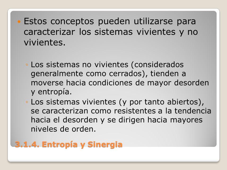 Estos conceptos pueden utilizarse para caracterizar los sistemas vivientes y no vivientes.