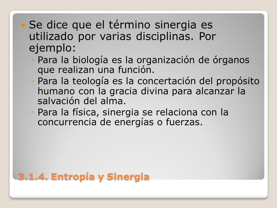 Se dice que el término sinergia es utilizado por varias disciplinas