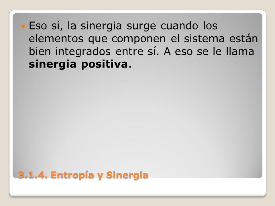 Eso sí, la sinergia surge cuando los elementos que componen el sistema están bien integrados entre sí. A eso se le llama sinergia positiva.