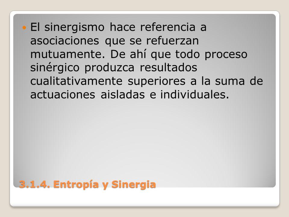 El sinergismo hace referencia a asociaciones que se refuerzan mutuamente. De ahí que todo proceso sinérgico produzca resultados cualitativamente superiores a la suma de actuaciones aisladas e individuales.